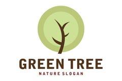 Logotipo verde da árvore Fotografia de Stock Royalty Free