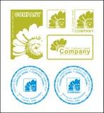 Logotipo verde da flor fotografia de stock