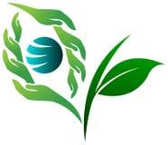 Logotipo verde da visão ilustração stock
