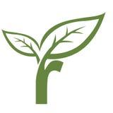 Logotipo verde de la inicial R del vector Imagen de archivo libre de regalías