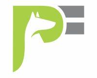 Logotipo verde de la silueta del zorro Fotografía de archivo