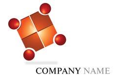 Logotipo vermelho Fotos de Stock Royalty Free