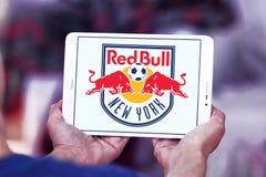 Logotipo vermelho do clube do futebol dos touros de New York Fotografia de Stock Royalty Free