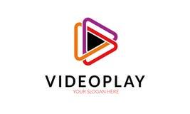 Logotipo video del juego ilustración del vector