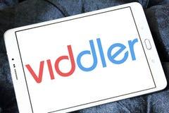 Logotipo video em linha do serviço de Viddler foto de stock