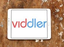 Logotipo video em linha do serviço de Viddler fotos de stock