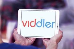 Logotipo video en línea del servicio de Viddler foto de archivo libre de regalías