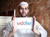 Logotipo video en línea del servicio de Viddler fotos de archivo libres de regalías