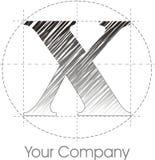 Logotipo X Fotografia de Stock