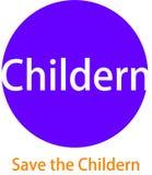 Logotipo y desaign que se calientan de Childern Foto de archivo libre de regalías
