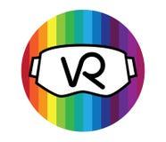 logotipo y gafas de 3D VR Foto de archivo