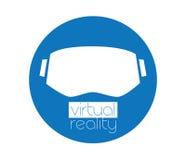 logotipo y gafas de 3D VR Fotos de archivo