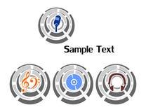 Logotipo y música Fotografía de archivo libre de regalías