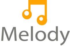 Logotipo y plantilla de los sonidos de la melodía imagenes de archivo