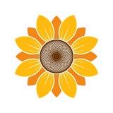 Logotipo y símbolo del girasol para el día de la acción de gracias stock de ilustración