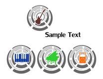 Logotipo y sonido Foto de archivo libre de regalías