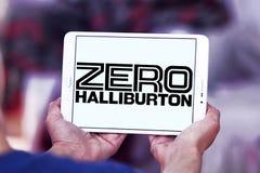 Logotipo zero da empresa de Halliburton Imagem de Stock