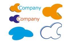 logotipos 3D Imagem de Stock