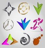 Logotipos 3D coloridos Fotografia de Stock