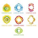Logotipos abstractos de la yoga Imagen de archivo