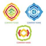 Logotipos abstractos de la yoga Imagenes de archivo