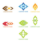 Logotipos abstractos de las habas Imágenes de archivo libres de regalías