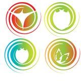 Logotipos abstractos del círculo Fotos de archivo libres de regalías