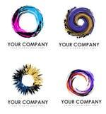 Logotipos abstractos del negocio del remolino Fotos de archivo