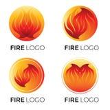 Logotipos abstractos - fuego libre illustration