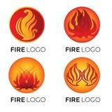 Logotipos abstractos - fuego stock de ilustración