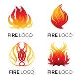 Logotipos abstractos - fuego ilustración del vector