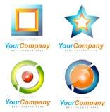 Logotipos abstratos da empresa Imagem de Stock Royalty Free
