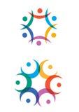Logotipos abstratos da humanidade Fotografia de Stock Royalty Free