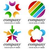 Logotipos abstratos do negócio ajustados [2] Fotos de Stock