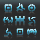 Logotipos abstratos do vetor Imagens de Stock