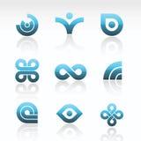 Logotipos abstratos do vetor Fotografia de Stock Royalty Free