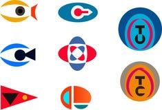 Logotipos abstratos - a visão, câmera, olho, ciao, obrigado Foto de Stock Royalty Free