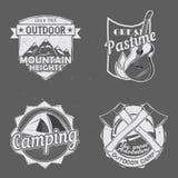 Logotipos al aire libre del viaje libre illustration