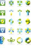 Logotipos ambientais Imagens de Stock