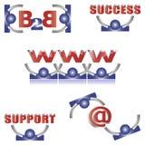 Logotipos & ícones do vetor ajustados Fotografia de Stock Royalty Free