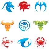 Logotipos animais Fotografia de Stock