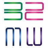 Logotipos B S M W imagen de archivo libre de regalías