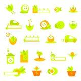 Logotipos, bandeiras e ícones da ecologia Imagens de Stock Royalty Free