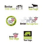 Logotipos bovinos ajustados Imagens de Stock Royalty Free