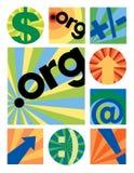 Logotipos Collection.org do negócio ilustração royalty free