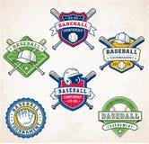 Logotipos coloridos do basebol do vetor Fotografia de Stock Royalty Free