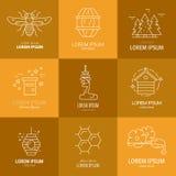 Logotipos con la miel Imagen de archivo