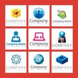 Logotipos corporativos Imagens de Stock