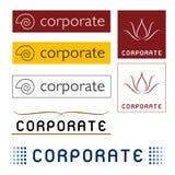 Logotipos corporativos Fotografia de Stock Royalty Free