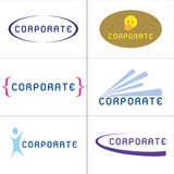Logotipos corporativos Imagem de Stock